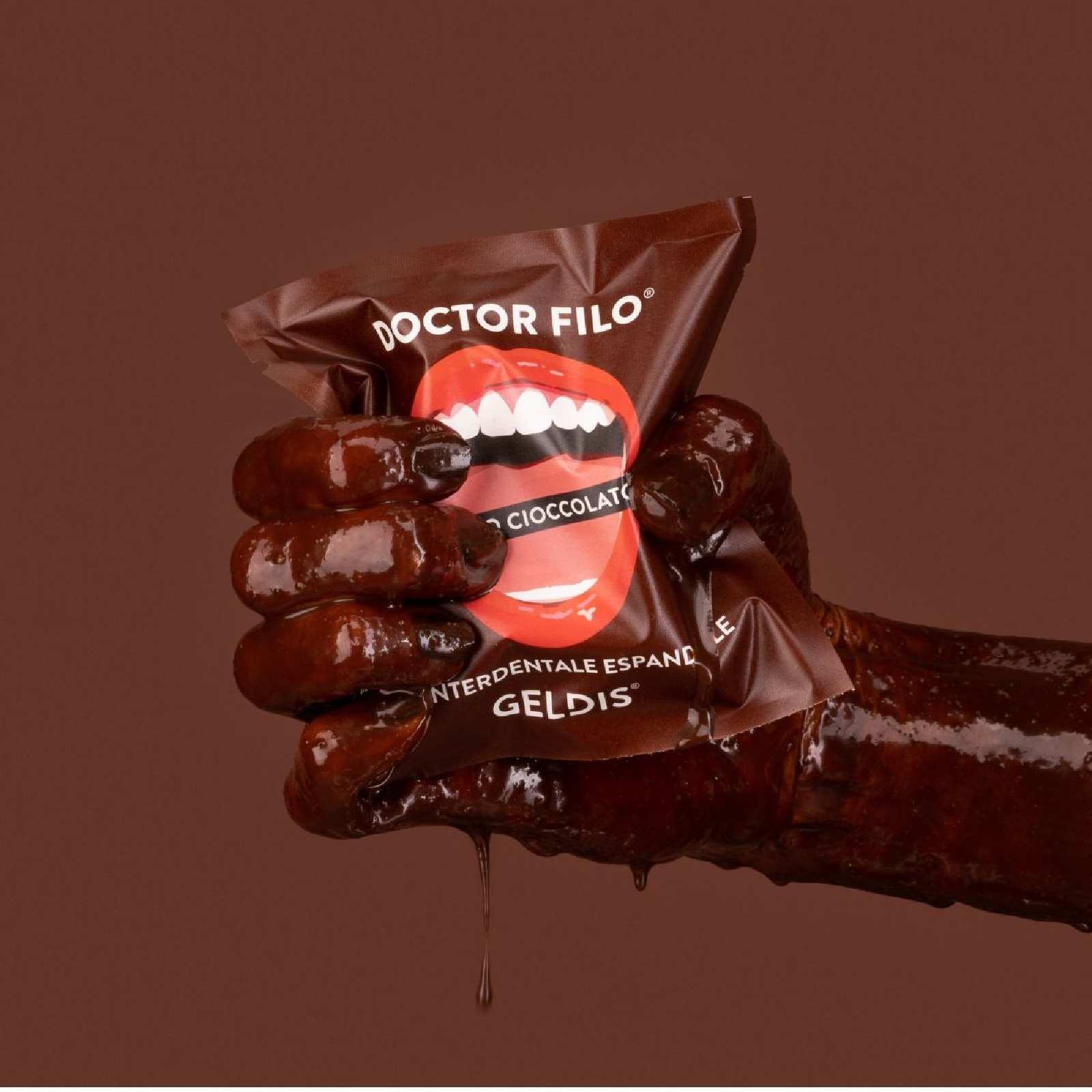 floss chocolate taste teeth