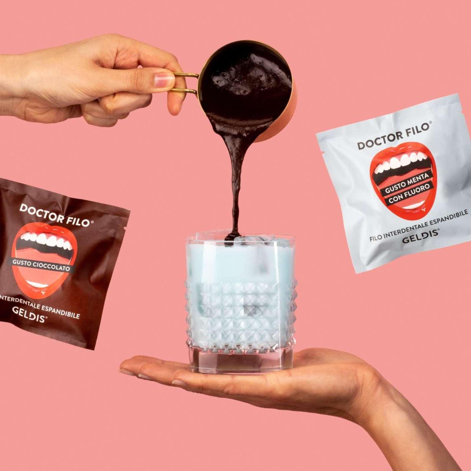 expandable chocolate flavor floss