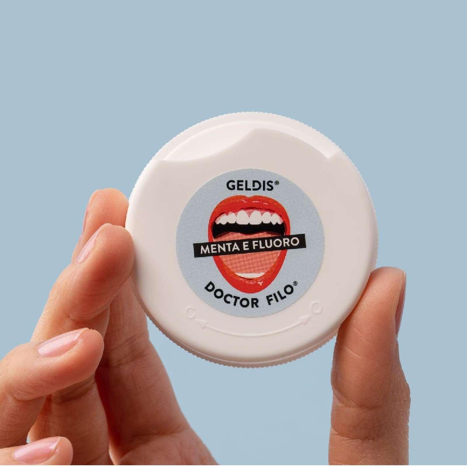 limpiar los dientes hilo dental